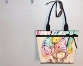 Large Tote, Camilla d'Errico, Eenie Meenie Miny & Mo, Pop Art tote bag, book tote, large purse, canvas tote, shoulder bag