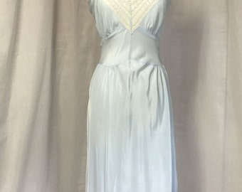 1930's Ice Blue night dress or lingerie plus size size 14-16