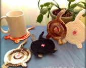Cat Rump Coasters - CHOOSE 6