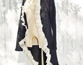Black Lace Jacket Victorian Steampunk Handmade