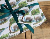 Elephant River Wrapping Paper - 100% Recycled