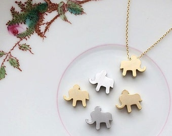CLEARANCE Elephant Necklace - GOLD Elephant Charm Childrens Flower Girl Necklace Flower Girl Gift Elephant Necklace Elephant