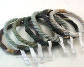 mixed rope bracelets grommet bracelets soft bangles hand dyed cotton stackable beach bangles 3632
