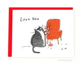 Funny Valentine Card - Cat Valentine - From the Cat - Cat Mom or Cat Dad Card - Love Card - Card from the cat