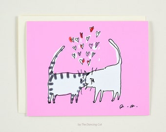 Headbutt Love Card - Cat Card - Love You