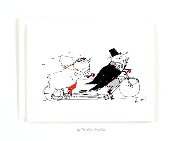 Hochzeit Karte Bike Wedding Hochzeit-Karte für Cat
