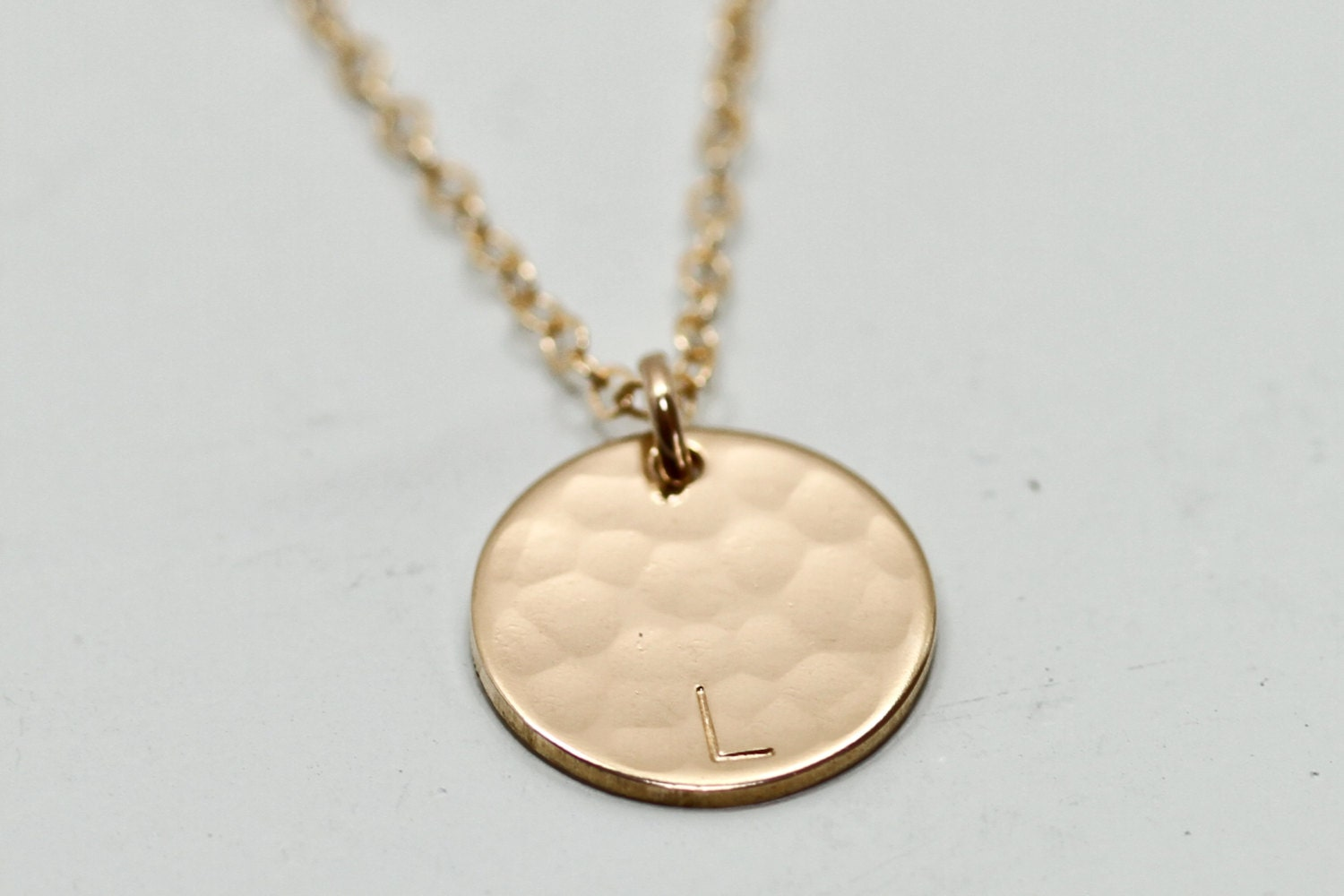 initial necklace gold disc necklace dainty gold by seaandcake