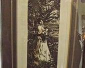 """SALE  Vintage French Art Print  Etching """"Fleurs d Ete"""""""