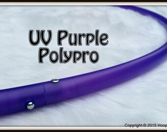 """UV PURPLE Polypro - Available in 3/4"""" & 5/8"""" OD THiN!   Push-Button Collapsible for Travel. Free Sanding Option."""