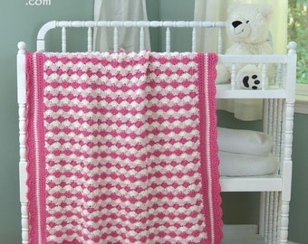 Crochet pattern baby blanket INSTANT pdf DOWNLOAD use cotton, acrylic, wool you choose Shells Of Love Easy Quick Pattern BONUS Frog Hat