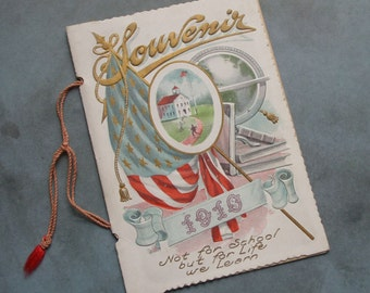 1910 School Souvenir Booklet Holt School Snyder Twp. PA