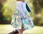 Girls Fall Posey Dress, Ready to Ship Sz 4t