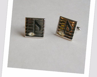 Vintage Quaver Music Note Mens Cuff Links by Swank