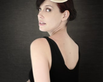 Sculptural Cream Felt Fascinator - Bridal Series