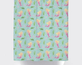 mermaid shower curtain custom shower curtain mermaid shower curtain pick your colors