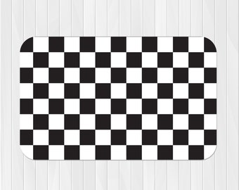 Checkered Rug - Race Car Rug - Checkered Flag Rug - Pick Your Color!