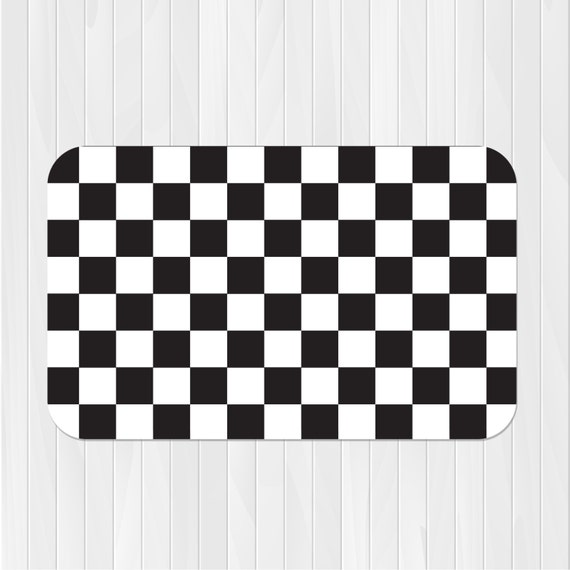 Checkered Rug Race Car Rug Checkered Flag Rug Pick Your