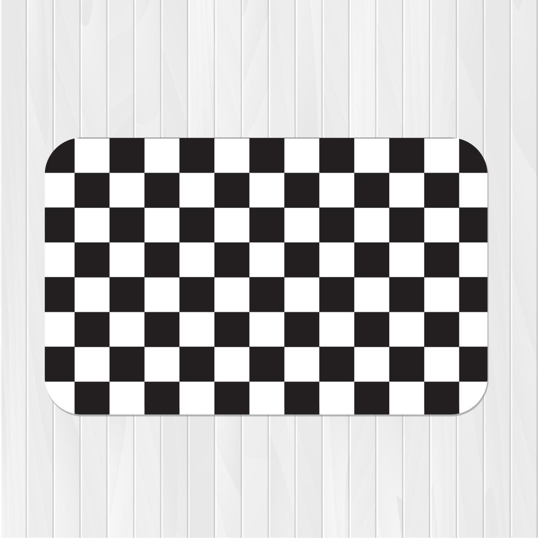 Checkered Race Car Valance