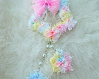 2-Way Multi Pastel Fuzzy Shooting Star Barrette/Pin