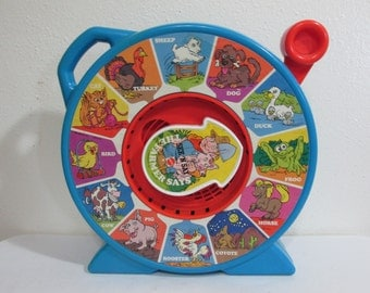 Mattel See N Say The Farmer Says 1989 Learning Toy