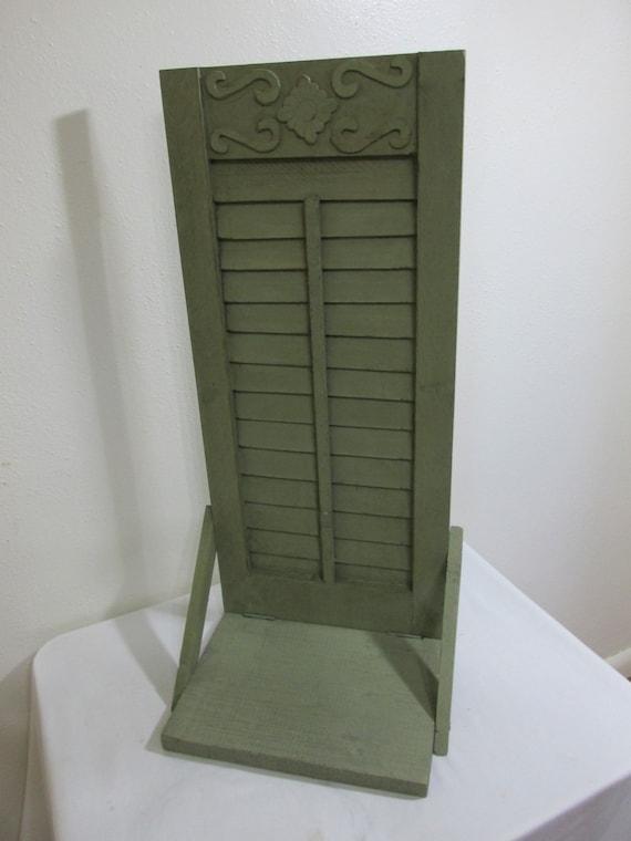 vintage shutter shelf wall hanging home interior. Black Bedroom Furniture Sets. Home Design Ideas
