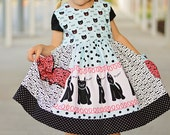 SEW HAPPY Dress Pattern -  Colorful Stripwork with Ruffles and Pocket - Instant Download - PDF Sewing Pattern Baby 6 Months - 6 Children