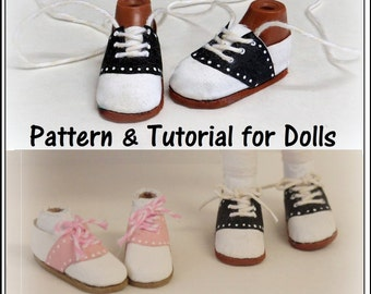 Saddle Shoes No Sew Doll Shoes Pattern PDF Pictorial Tutorial Bratz Moxie Blythe and Other Fashion Dolls by Grace Filled Hands