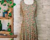 Marion Liberty Print Dress - floral dress - flared dress - gift for wife - knee length dress - casual dress - Liberty of London dress