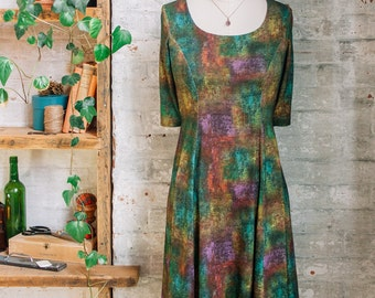 Marion Liberty Print Dress - travel dress - teal dress - spring fashion - knee length dress - casual dress - Liberty of London dress