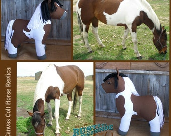 MADE to ORDER Canvas Colt Plush Horse made to resemble YOUR horse