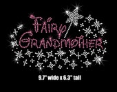 Fairy Grandmother Pixie Dust Wand iron on rhinestone Disney bling TRANSFER for shirt your color choice