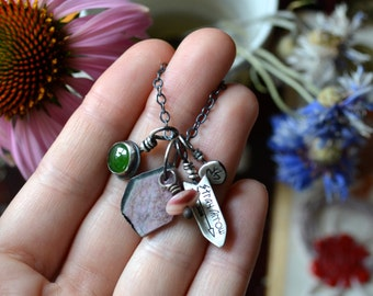 Tourmaline Charm Fest Necklace No. 1