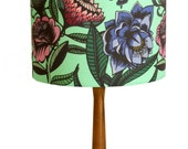 Floral Silk Lampshade/Butterfly Lampshade/Silk Drum Shade