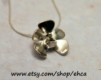 Handmade Little Orchid Necklace