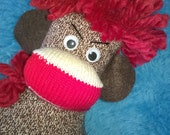 Sock Monkey Dammit Doll for Stress Anxiety Anger Frustration