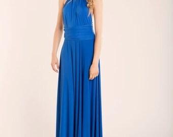 Royal blue bridesmaid dress, blue infinity dress, wedding, maxi dress, bridesmaids dresses, blue infinity dress, infinity bridesmaid dresses