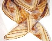 Vintage Vera Neumann Woodstock Era Autumn Forest Tie Dyed Silk Scarf