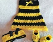 Crochet bumble bee outfit - Bumble bee baby shower - Baby Halloween Costume - crochet baby dress - baby bee outfit - Bumblebee Costume