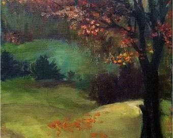 Plein Air Original Impressionist Oil Painting- 11x14in, Fall