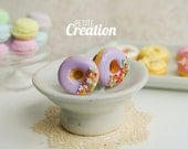 Donut Collection - Purple Donut with Sprinkles (Stud Earrings)