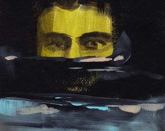 Night Swimmer .  giclee art print