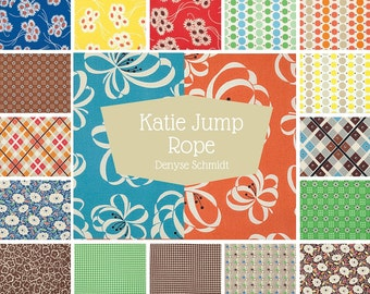 Katie Jump Rope Fat Quarter Bundle  by Denyse Schmidt - Legacy Reprint 18 FQs FreeSpirit Fabrics