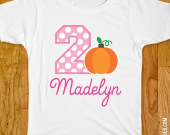 Pink Pumpkin Party Iron-On Shirt Design - Choose child or onesie size