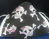 Pretty 'N Pink Skull -Germ Freak Designer Face Mask by Dena Tyson