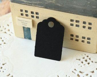 Mini BLACK Scallop Swing Tags