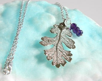 Silver Oak Leaf Necklace with 20 inch Sterling Silver Chain