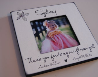 Thank You For Being Our Flower Girl, Personalized Picture Frame, Flower Girl Gift