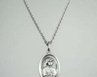 Saint Faustina Divine Mercy Necklace