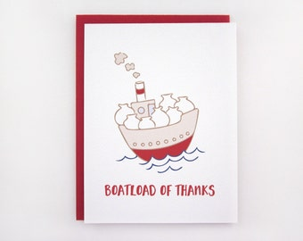 Boatload of Thanks - Thank You Card