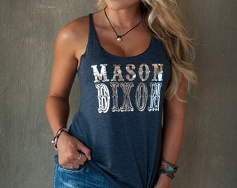 Mason Dixon! Proud of being born south of the Mason Dixon?  15 colors available! Customize to your colors!